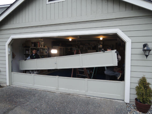 Garage Door Bent Panel Repair In Mill Creek WA By Elite Tech Services, LLC