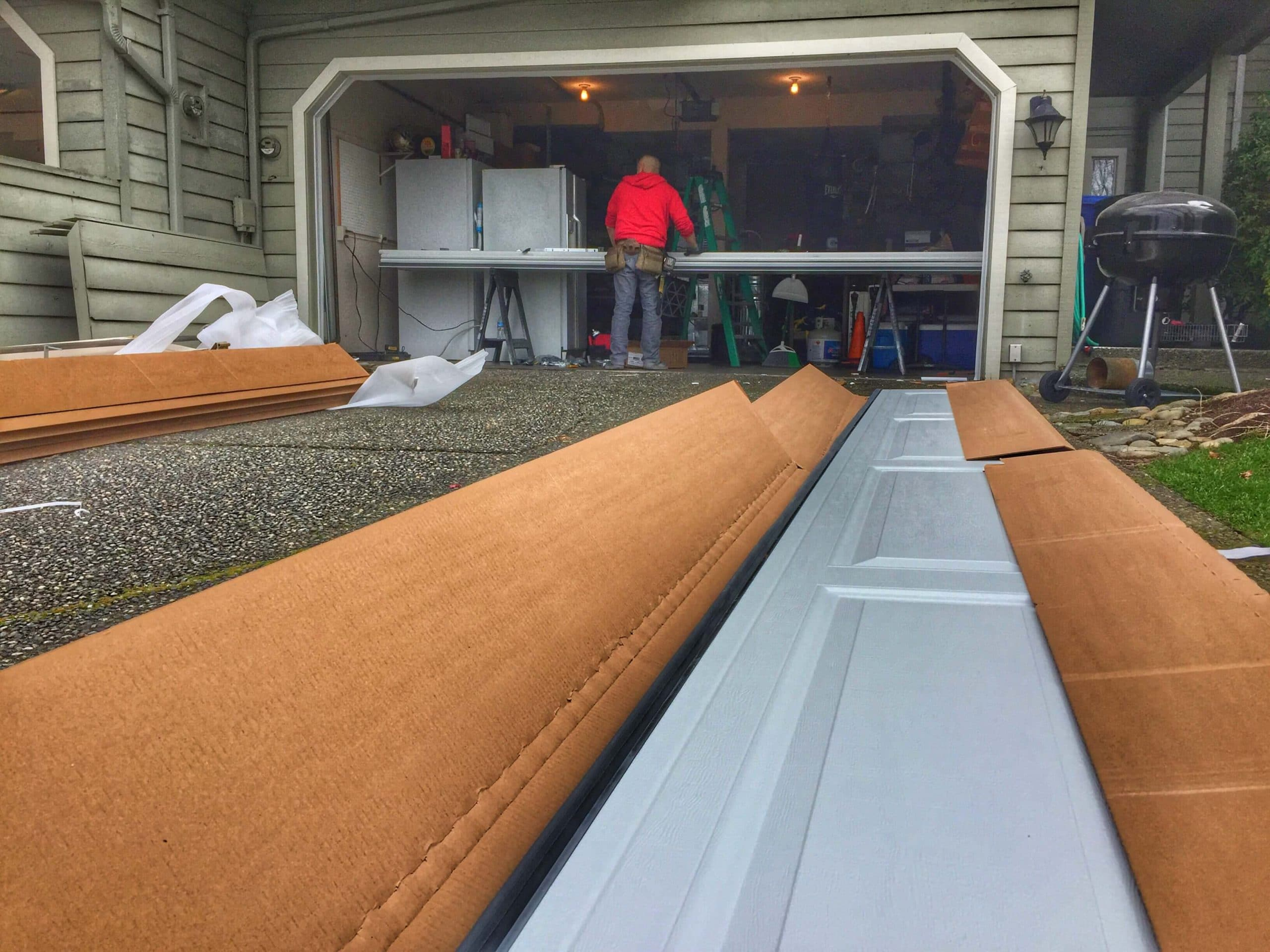 Perfect New Garage Door Installation In Lake Stevens WA By Elite Tech Services LLC.  1; 2; 3