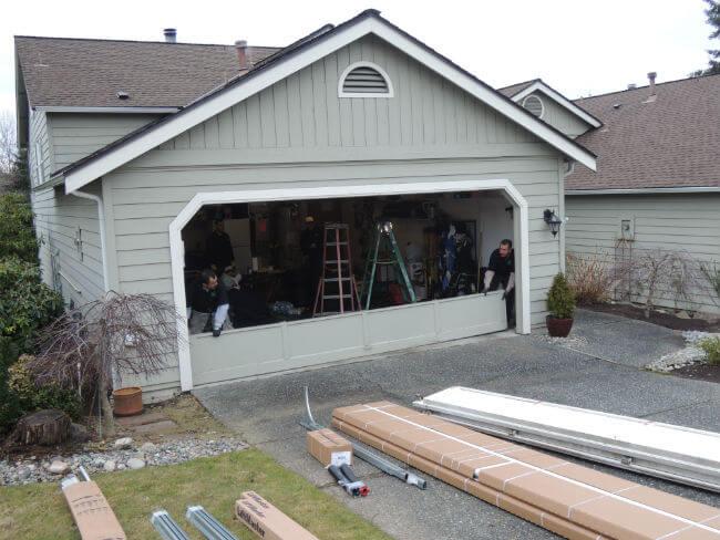 New garage door installation in woodinville elite garage for Garage door repair bothell